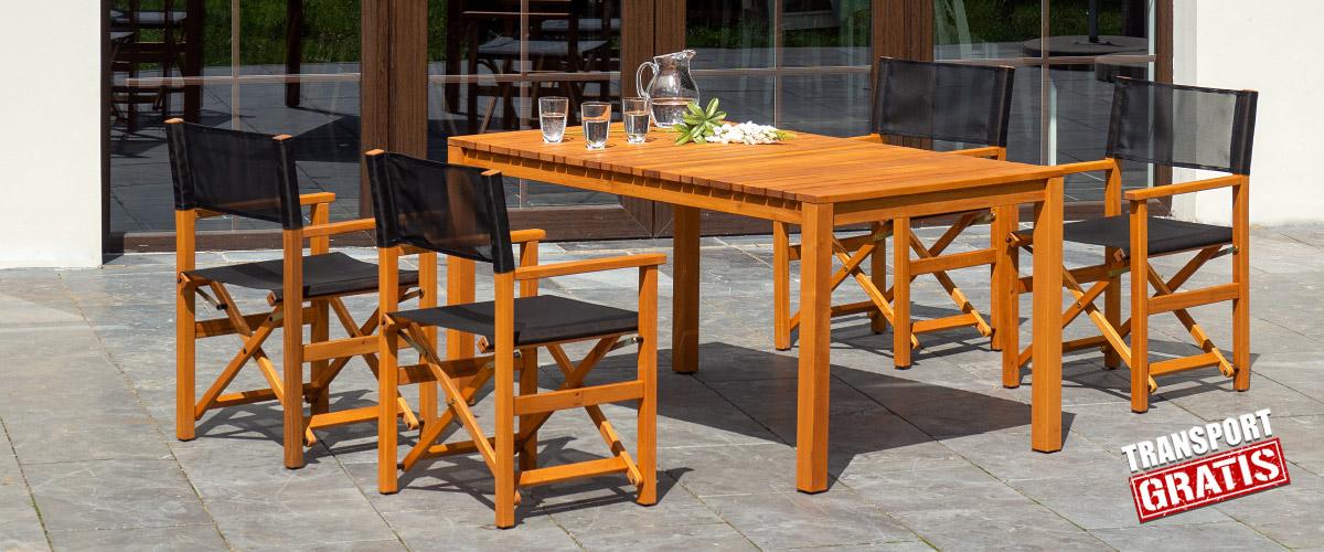 Eleganckie Meble Ogrodowe Z Drewna I Aluminium Sklep