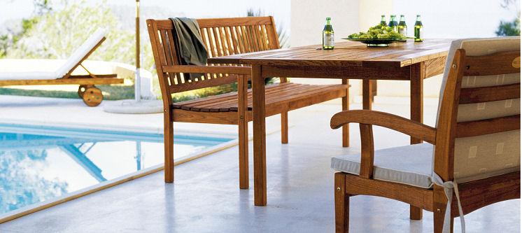 Meble Ogrodowe Drewniane Komplety : Drewniane meble ogrodowe, meble na taras i do ogrodu  HASTE GARDEN