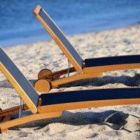 Leżanki Merlin na plaży