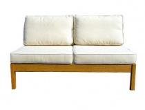 Sofa dwuosobowa drewniana