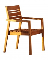Fotel drewniany (sztaplowany)