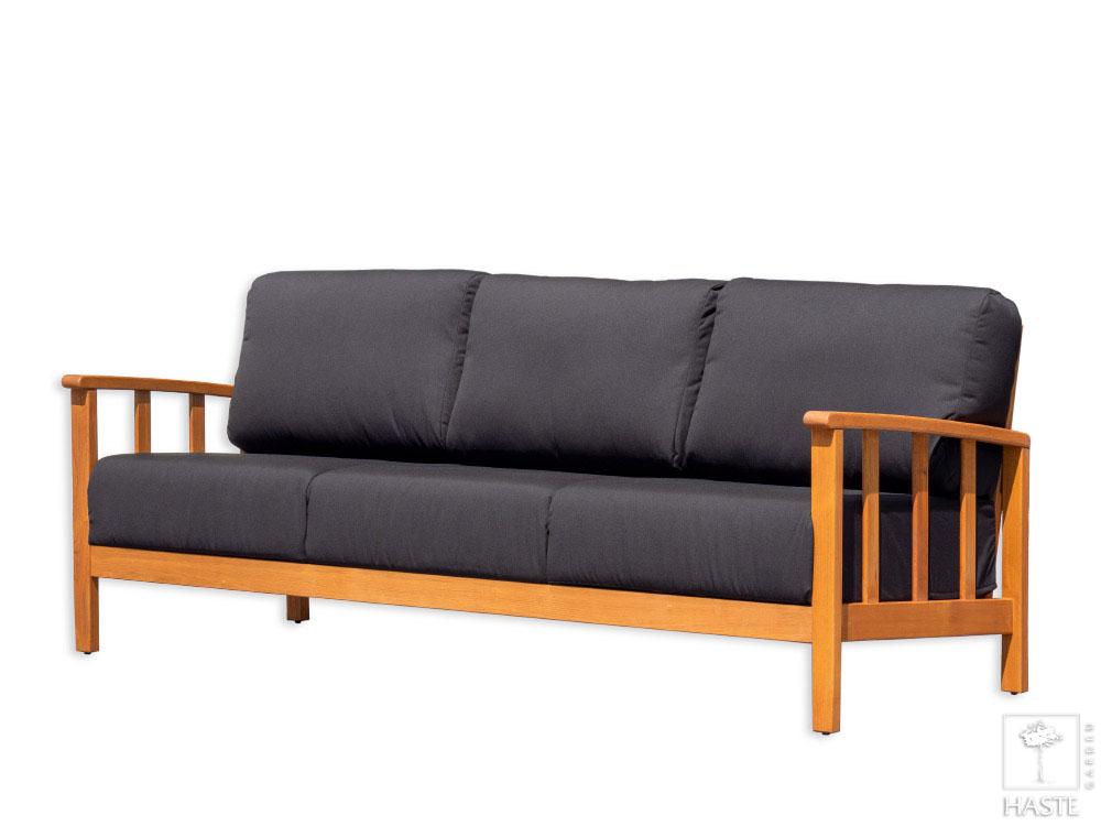 Sofa 3-osobowa drewniana