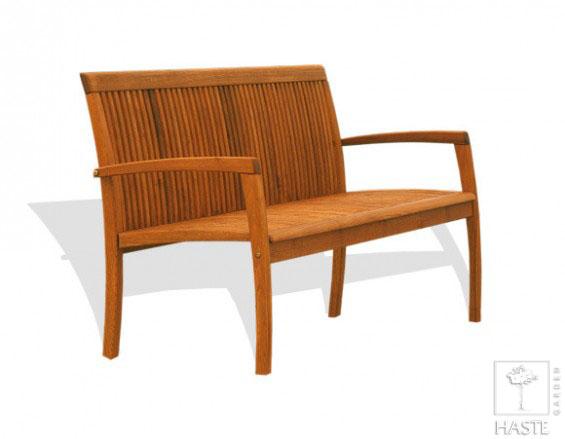 Drewniana ławka ogrodowa 3-osobowa