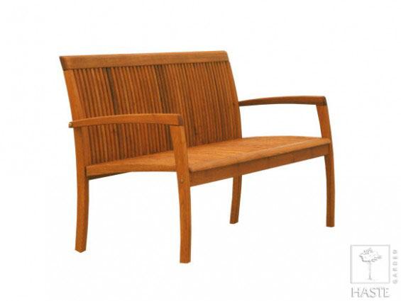 Drewniana ławka ogrodowa 2-osobowa