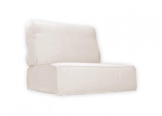 Poduchy MONACO + pokrowce z zamkiem (komplet: siedzisko+oparcie)