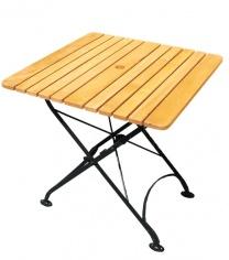 Stół ogrodowy z metalowym stelażem
