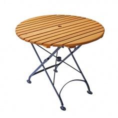 Składany okrągły stół (śr. 85 cm)