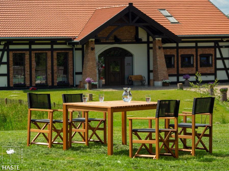 Zestaw 4 fotele POLO + stół